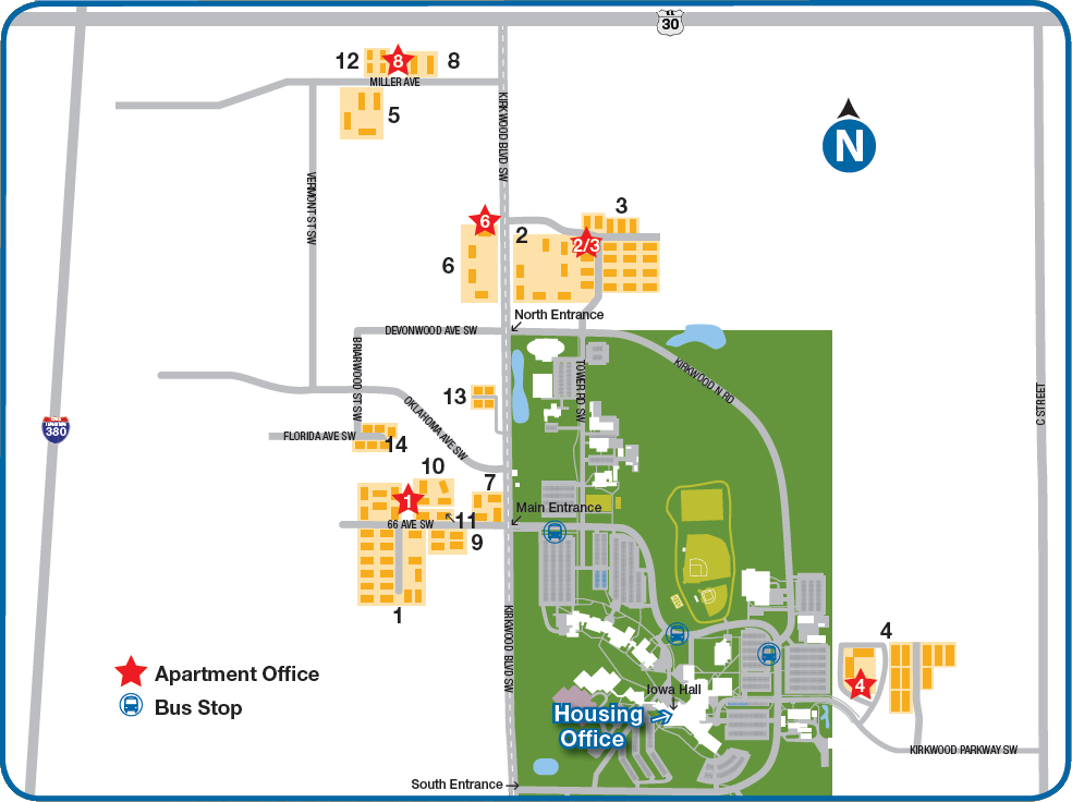 Kirkwood Community College Campus Map.2010 Map Png