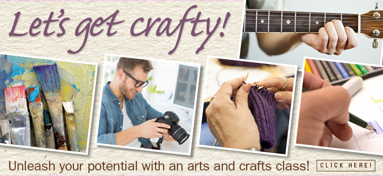 Let's get craft! Register for an arts and crafts class!