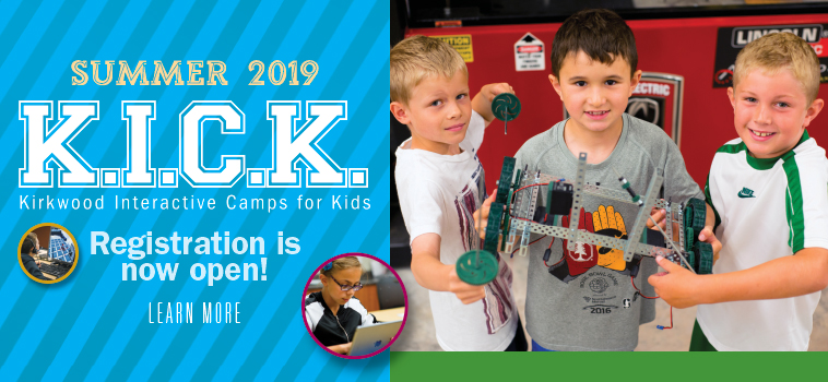 Kirkwood Interactive Camps for Kids. Registration for summer 2019 is now open.