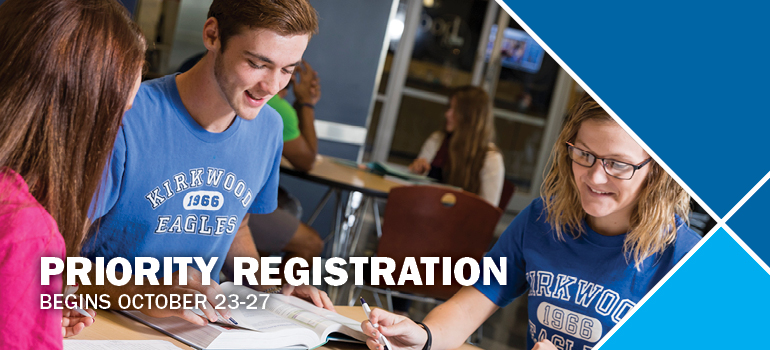 Priority registration begins October 24-28.