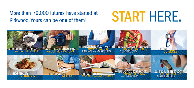 More than 70,000 futures have started at Kirkwood. Yours can be one of them! Start Here.