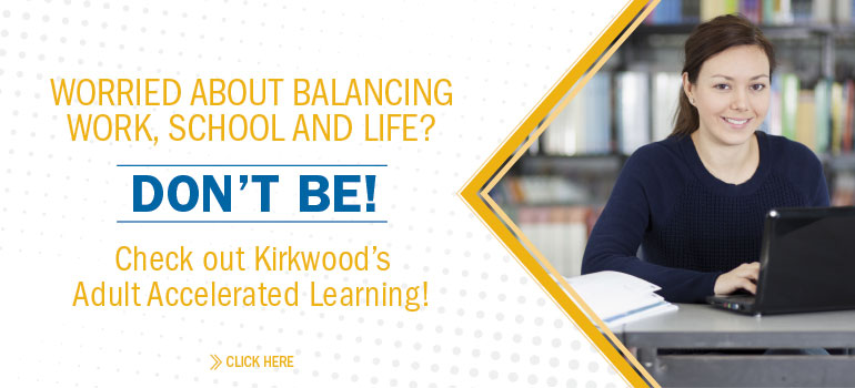 Worried about balancing work, school and life? Don't be! Check out Kirkwood's AAL