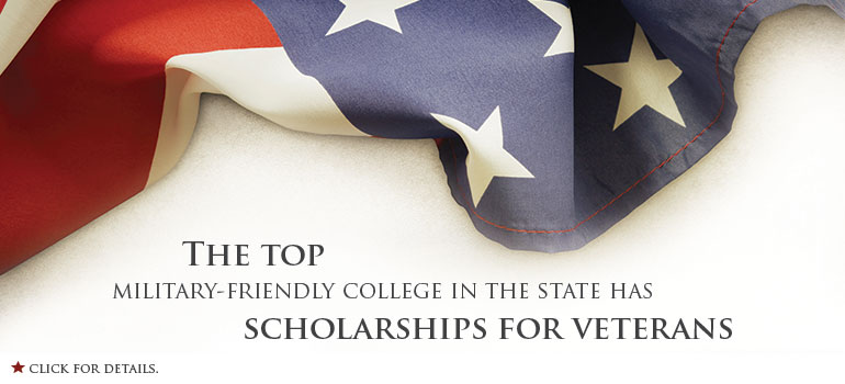 The top military-friendly college in the state has three scholarships for veterans.