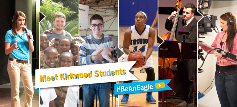 Click here to meet Kirkwood students. #BeAnEagle.
