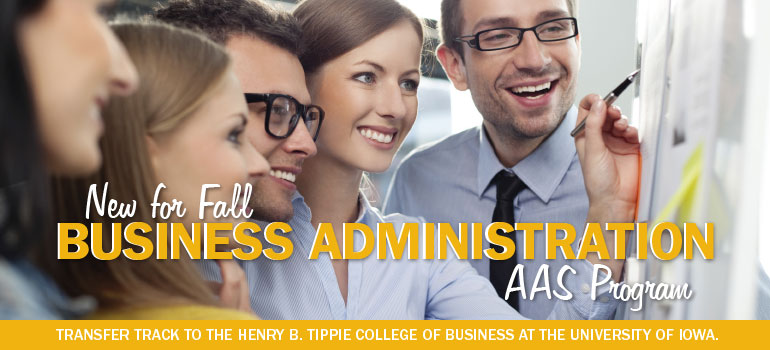 New for Fall. Business Administration. AAS Program.
