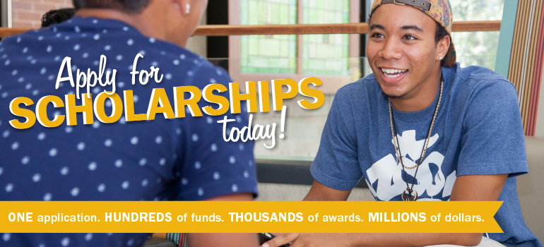 Apply for scholarships with one form today!