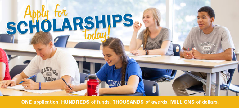 Apply for scholarships today! One application. Millions of dollars.