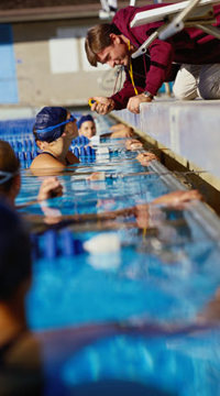 coaching swimming tall