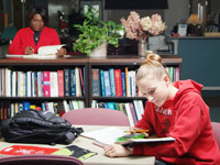 Students study at the Williamsburg Center