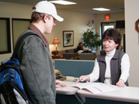 Center Associate helps student