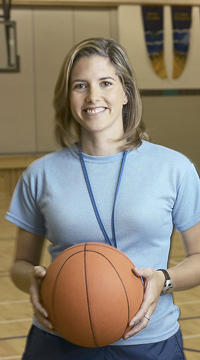 woman basketball coach