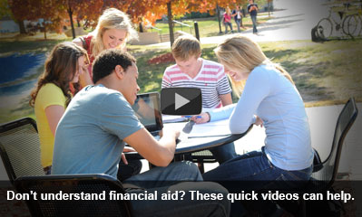 Play Financial Aid Awareness Video's.