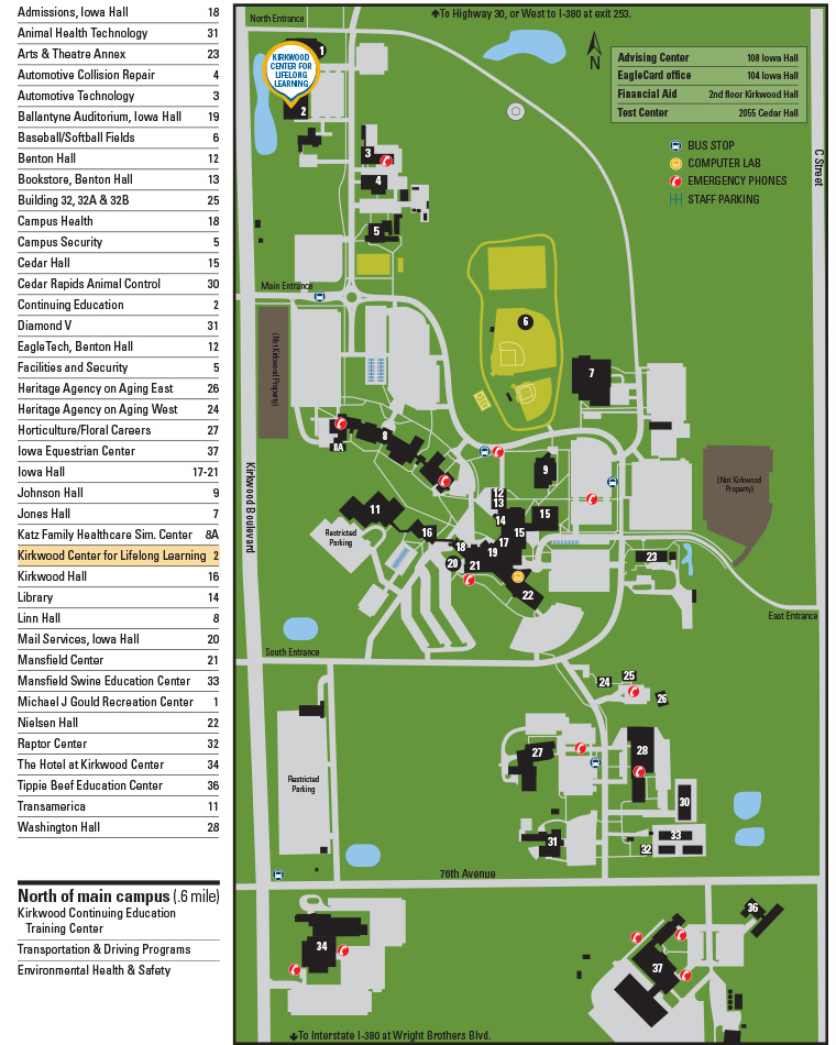 Kirkwood Community College Campus Map.Kirkwood Community College High School Completion Programs