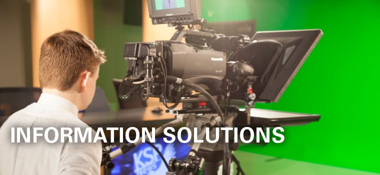 Information Solutions - Student working at student television