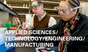 Applied Sciences, Technology, Engineering and Mathematics - Student with faculty