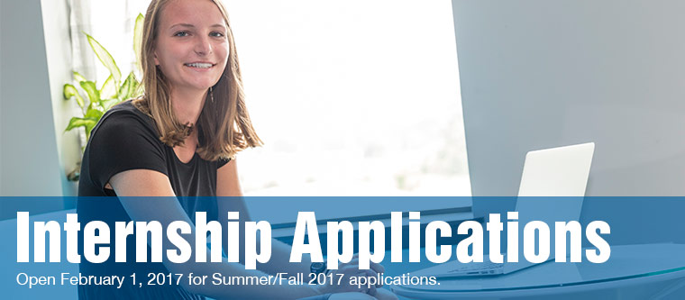 Internship Applications open on September 19, 2016 for winter/spring registration
