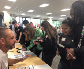 Images of students at the Financial Literacy Fair