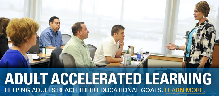 Adult Accelerated Learning. Helping adults reach their educational goals.
