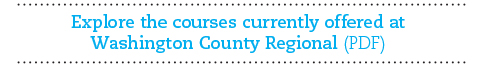 Download a PDF of Washington County Regional CE courses