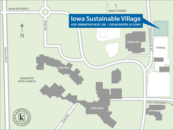 Kirkwood Community College Campus Map.Kirkwood Community College Sustainability Village