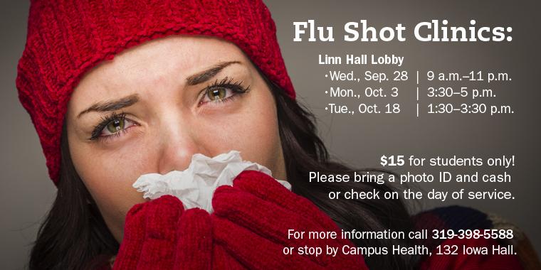2016 Flu Shot Clinics graphic