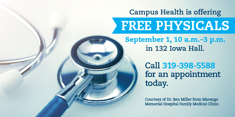 Free Physicals September 1, 2016