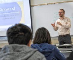 Ken giving a presentation at International Student Orientation