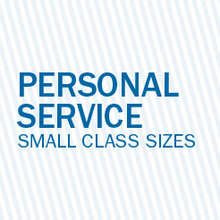 Personal Service Small Class Sizes