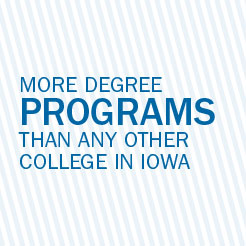 More degree programs than any other college in Iowa.