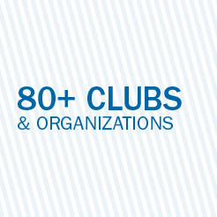 80 plus clubs and organizations.