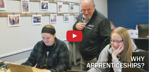 "Click here to watch the ""Why Apprenticeships"" video."
