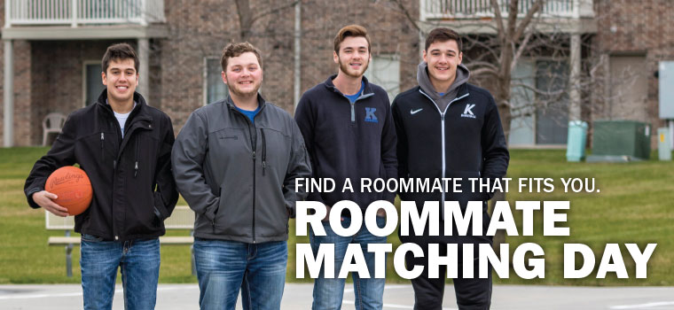 Find a roommate that fits you. Roommate Matching Day