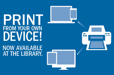 Print from your own device at the library