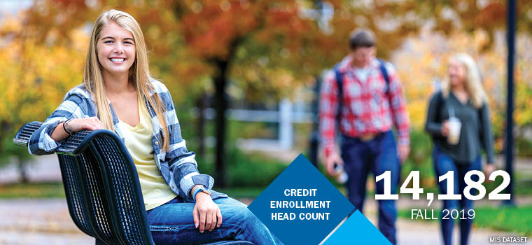 Credit enrollment headcount