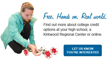 Free. Hands on. Real world. Find out more about college credit in high school.