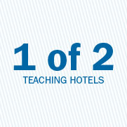 1 of 2 teaching hotels.