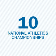 10 national athletic championships