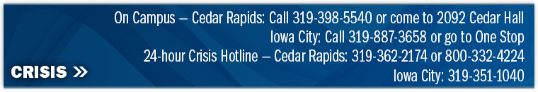 24-hour crisis hotline at 319-362-2174