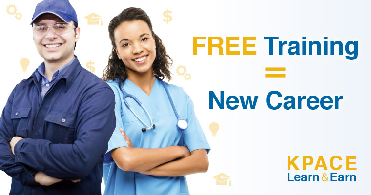 Free Training equals new career. Kpace Learn and Earn.