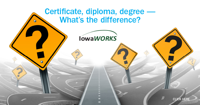 Certificate, diploma, degree – What's the difference?